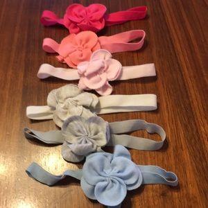 6 baby headbands